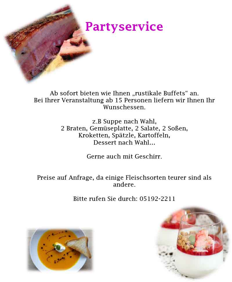 Landhotel Heidkrug Partyservice